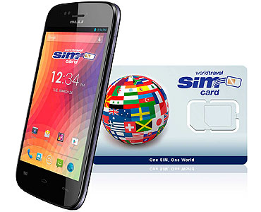 BLU C6 2G/3G/4G & WorldTravelSIM card with Voice, Text, Data + WiFi + Email + GPS + Web and more