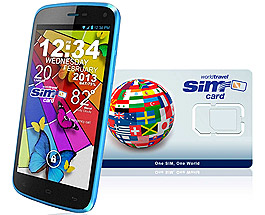 BLU G8 2G/3G/4G/LTE & WorldTravelSIM card with Voice, Text, Data + WiFi + Email + GPS + Web and more