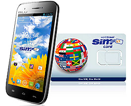 BLU C5 2G/3G/4G and WorldTravelSIM card with Voice, Text, Data + WiFi + Email + GPS + Web and more