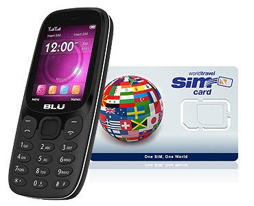 BLU Z4 2G Phone and WorldTravelSIM + Voice + Text