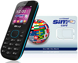 BLU World 2G/3G & WorldTravelSIM card + Voice + Text