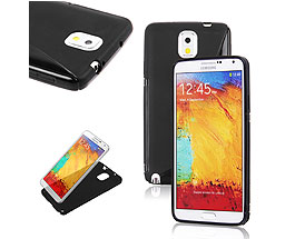 Galaxy Note 3 Soft Gel Skin Case Black