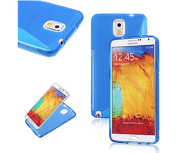 Galaxy Note 3 Soft Gel Skin Case Blue