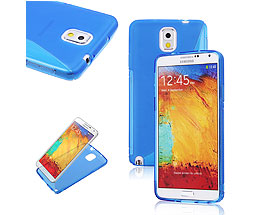 Galaxy Note 3 Soft Gel Skin Case Blue