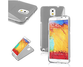 Galaxy Note 3 Soft Gel Skin Case Grey