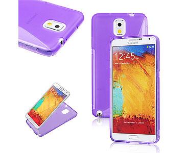 Galaxy Note 3 Soft Gel Skin Case Purple