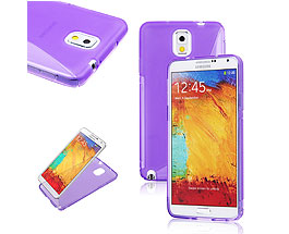 Galaxy Note 3 Soft Gel Skin Case Purple