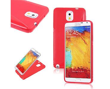 Galaxy Note 3 Soft Gel Skin Case Red