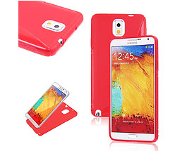 Galaxy Note 3 Soft Gel Skin Case Red