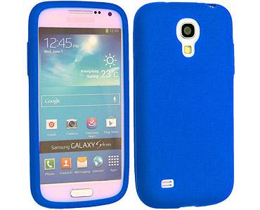 Galaxy S4 Silicone Case Blue