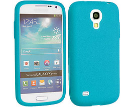 Galaxy S4 Silicone Case Light Blue