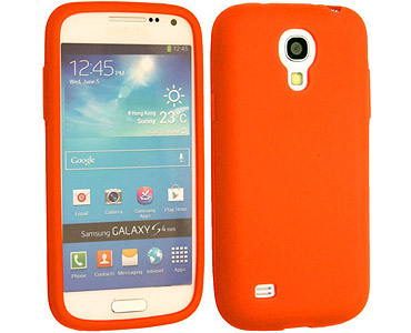 Galaxy S4 Silicone Case Orange