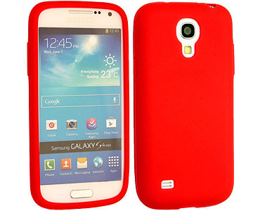 Galaxy S4 Silicone Case Red