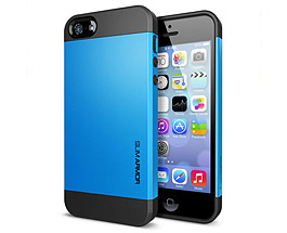 iPhone 5 & 5S Slim Armor Case Blue