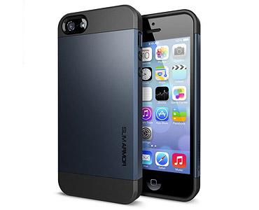 iPhone 5 & 5S Slim Armor Case Dark Grey