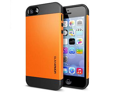 iPhone 5 & 5S Slim Armor Case Orange