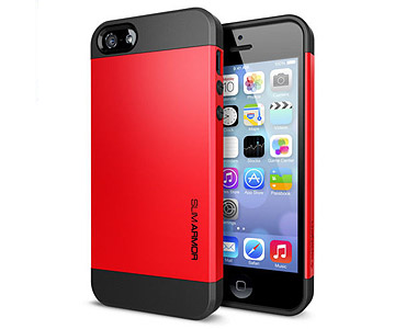 iPhone 5 & 5S Slim Armor Case Red