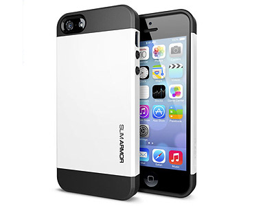 iPhone 5 & 5S Slim Armor Case White