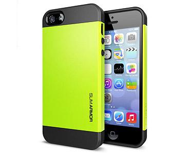 iPhone 5 & 5S Slim Armor Case Yellow