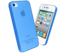 iPhone 5 & 5S Thin TPU + PC Case Blue