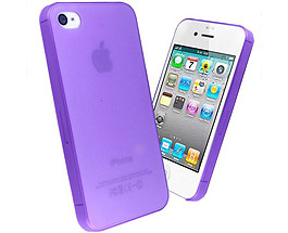 iPhone 5 & 5S Thin TPU + PC Case Purple