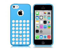 iPhone 5C Soft Gel Skin Case Blue