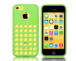 iPhone 5C Soft Gel Skin Case Green